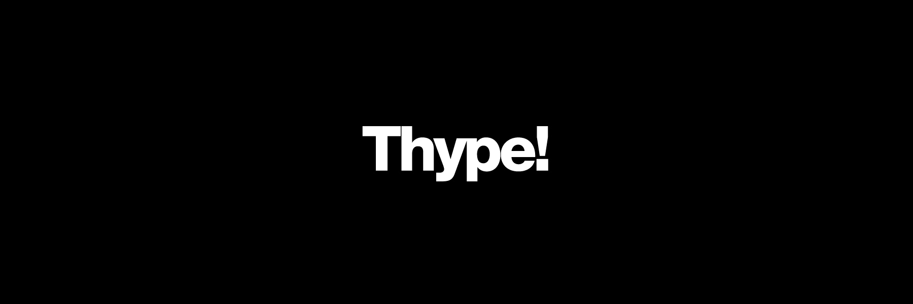 Thype! Logo design exercises book