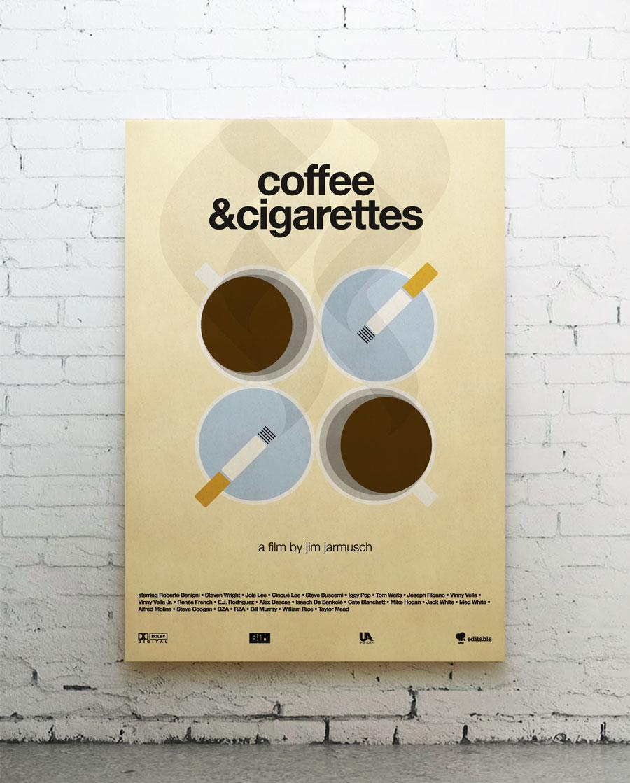 coffee & cigarettes canvas
