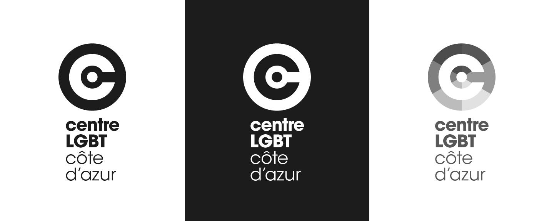Centre LGBT monochrome logo