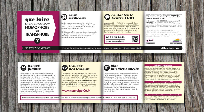 Brochure against homophobia