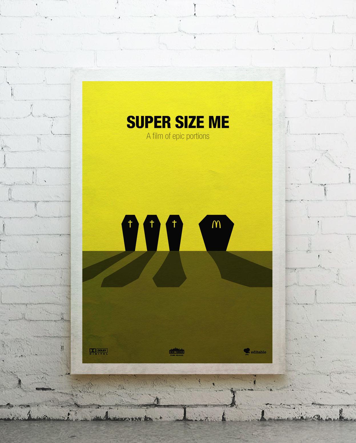 Super size me - canvas